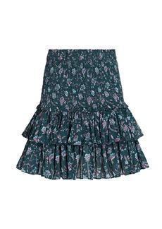 Isabel Marant Naomi Smocked Floral Mini Skirt
