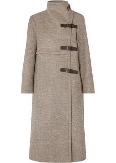 Isabel Marant Natacha Leather-trimmed Wool-blend Coat