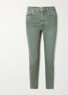 Isabel Marant Neac Cropped High-rise Slim-leg Jeans