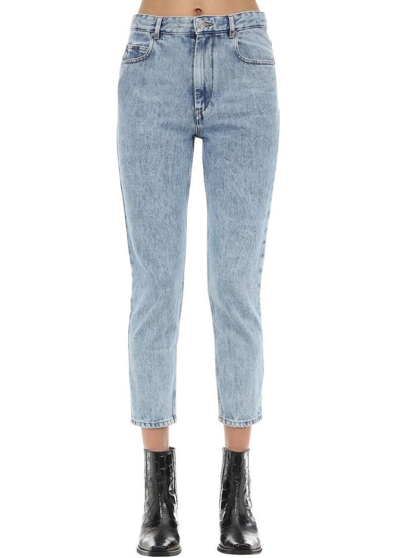 Isabel Marant Neaj Straight Leg Cotton Denim Jeans