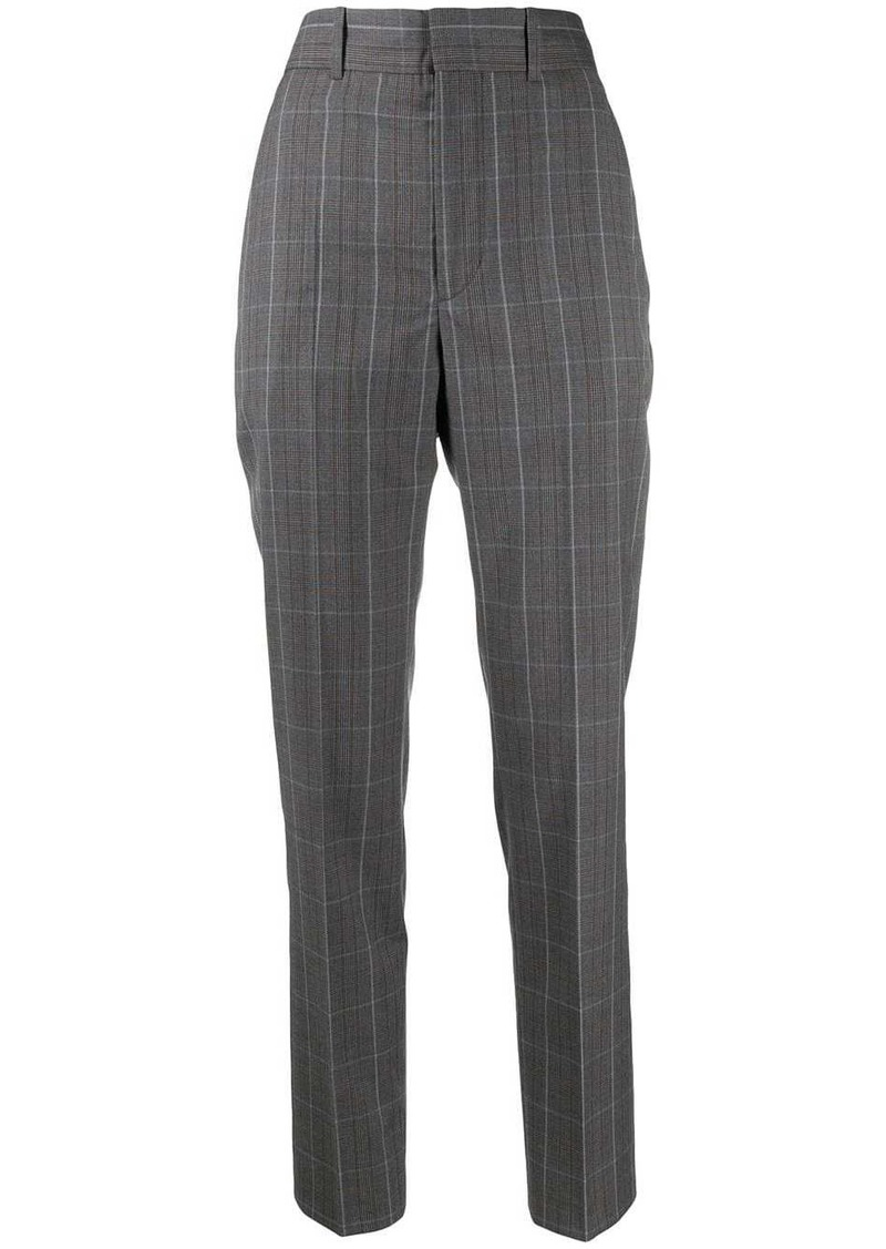 Isabel Marant Nelson check slim-fit trousers