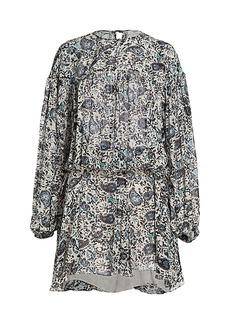 Isabel Marant Nimazu Paisley Puff-Sleeve Dress