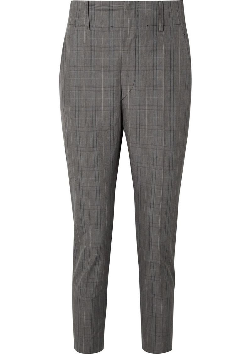Isabel Marant Noah Checked Cotton-blend Slim-leg Pants