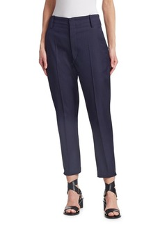 Isabel Marant Noah Virgin Wool Cropped Trousers