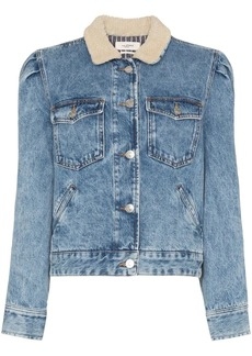 Isabel Marant Nolinea shearling-collar denim jacket