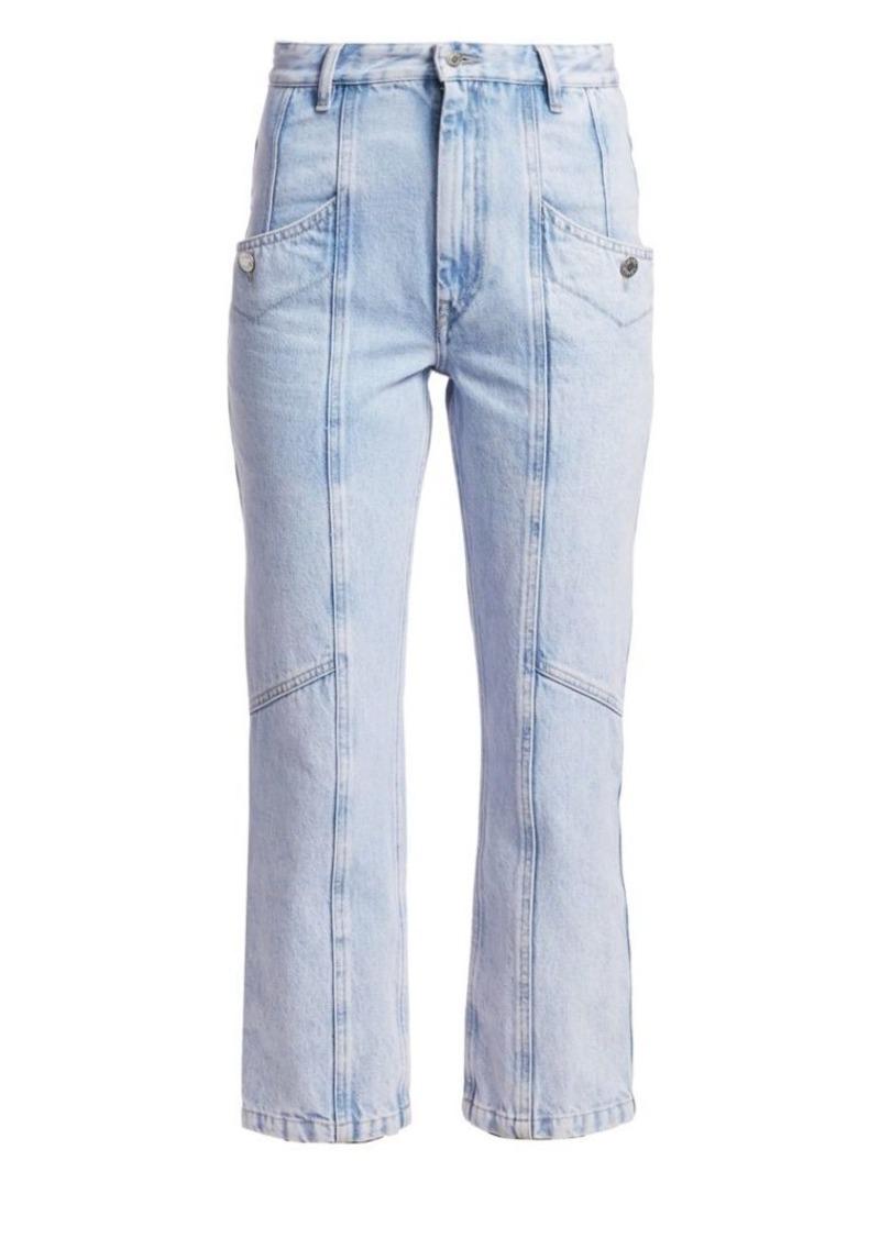 Isabel Marant Notty Lightwash Denim Cropped Jeans