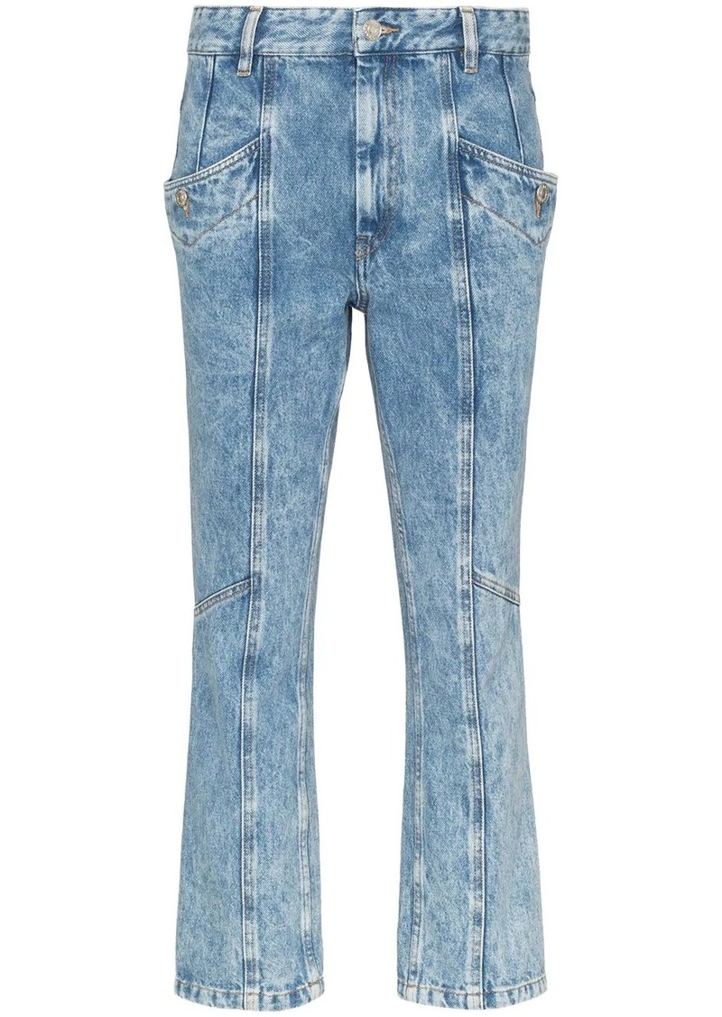 Isabel Marant notty panelled cropped jeans