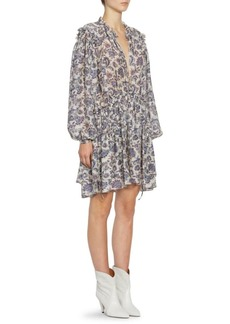 Isabel Marant Nydia Silk Georgette Paisley Dress