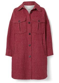 Isabel Marant Obira Oversized Herringbone Wool-blend Coat