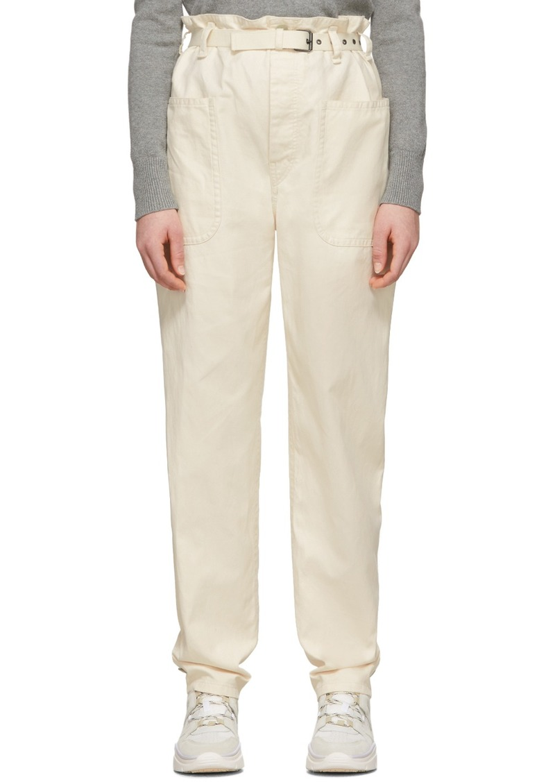 Isabel Marant Off-White Linen Rinny Trousers