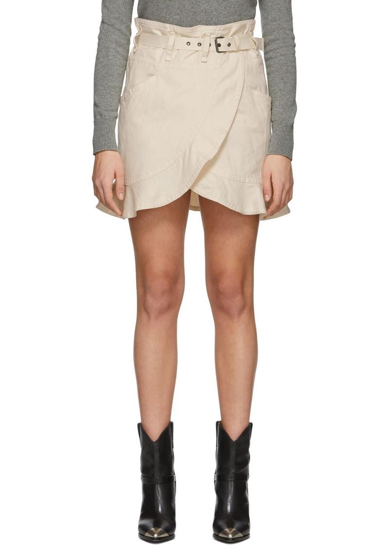 Isabel Marant Off-White Roan Miniskirt