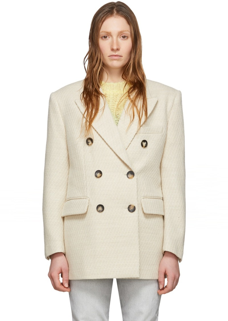 Isabel Marant Off-White Wool Hermina Coat