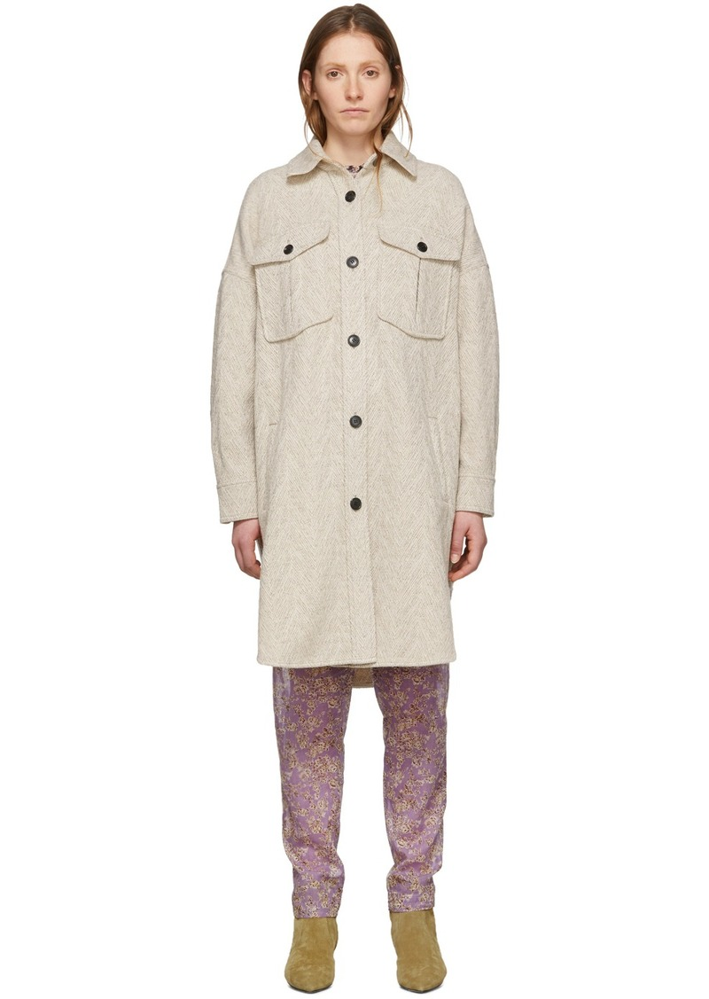 Isabel Marant Off-White Wool Obira Coat