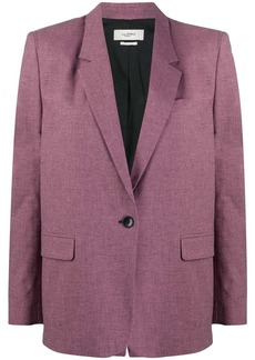 Isabel Marant one button micro check blazer