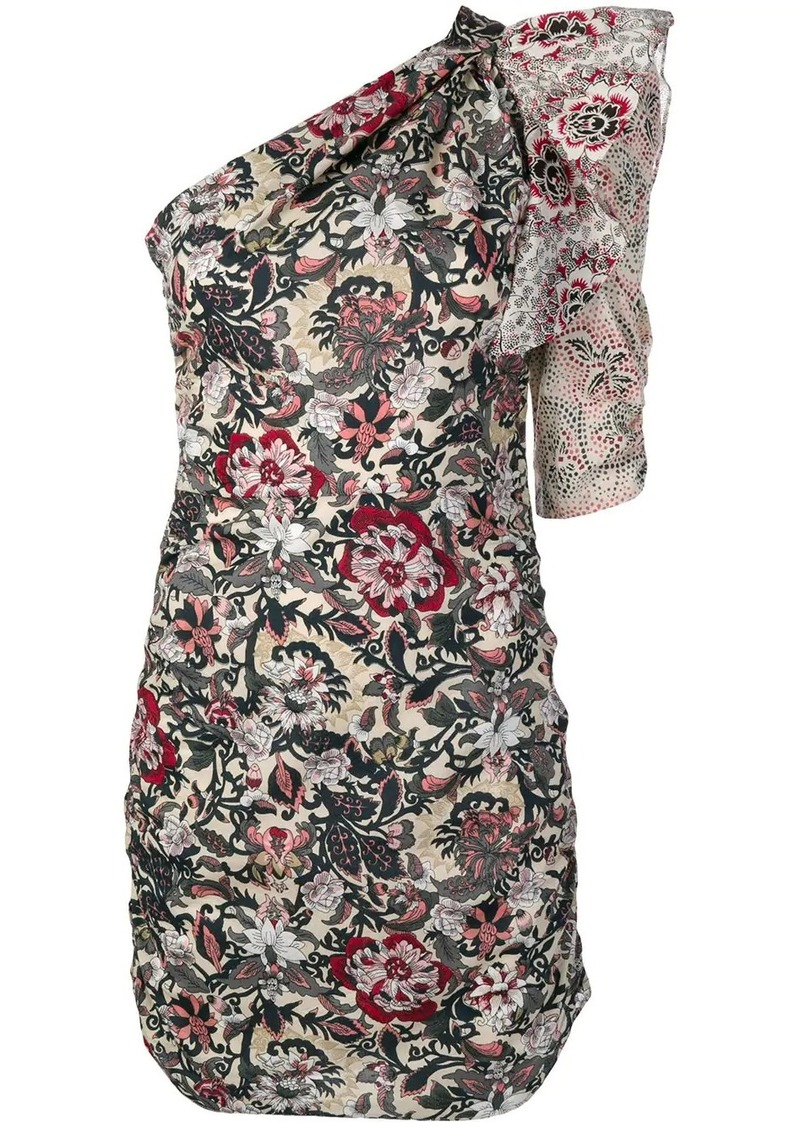 Isabel Marant one-shoulder printed dress