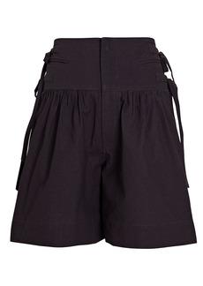 Isabel Marant Opala High-Rise Cotton Shorts