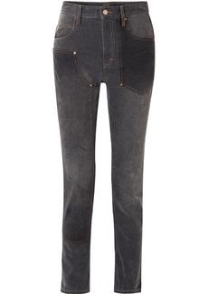 Isabel Marant Orrick Paneled High-rise Slim-leg Jeans