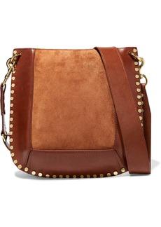 Isabel Marant Oskan Studded Leather And Suede Shoulder Bag