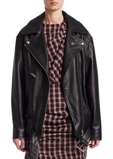 Isabel Marant Abely Oversized Leather Jacket