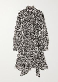 Isabel Marant Pamela Ruffled Floral-print Cotton-voile Wrap Dress