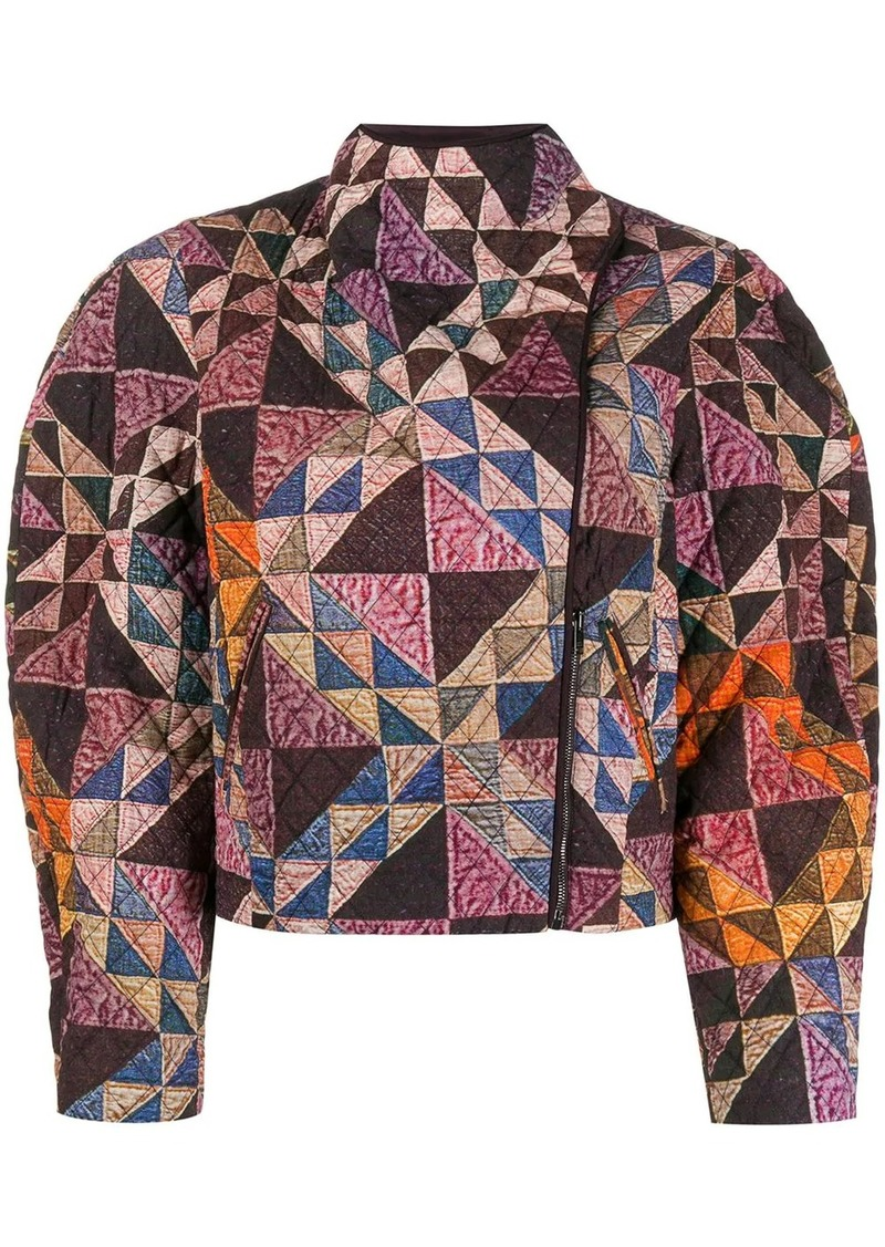 Isabel Marant patchwork quilted jacket