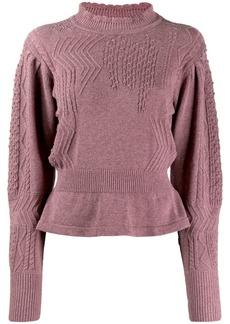 Isabel Marant peplum hem knitted jumper
