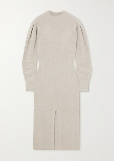 Isabel Marant Perrine Ribbed Cashmere And Wool-blend Midi Dress