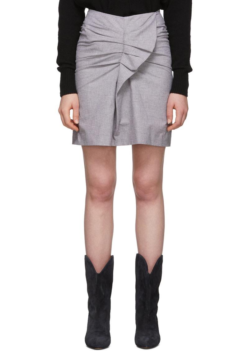 Isabel Marant Pink & Black Linen Ines Skirt