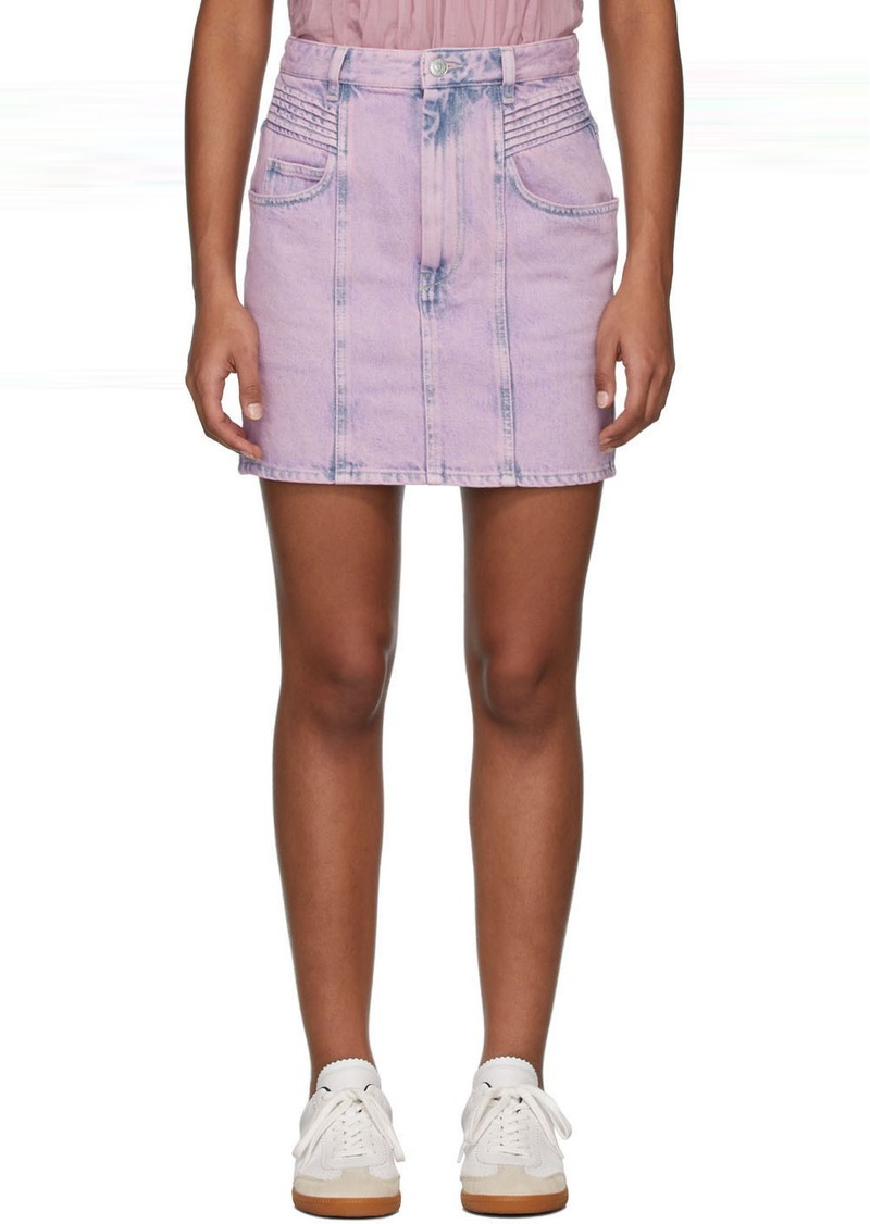 Isabel Marant Pink Denim Hondo Skirt