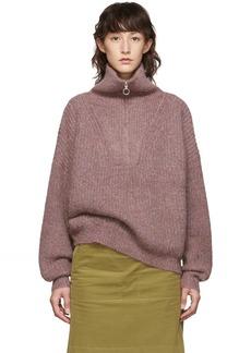 Isabel Marant Pink Myclan Knit Fluffy Turtleneck