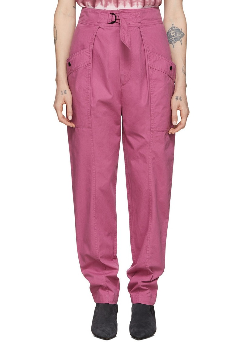 Isabel Marant Pink Zilyae Trousers