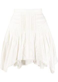 Isabel Marant pleated asymmetric hem skirt