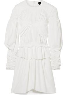 Isabel Marant Pleated Cotton-trimmed Poplin Mini Dress