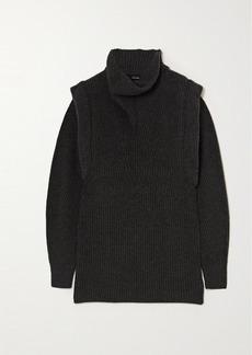 Isabel Marant Prewitt Ribbed Cashmere And Wool-blend Turtleneck Mini Dress