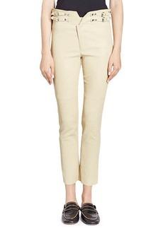 Isabel Marant Preydie Skinny Lamb Leather Pants with Buckles