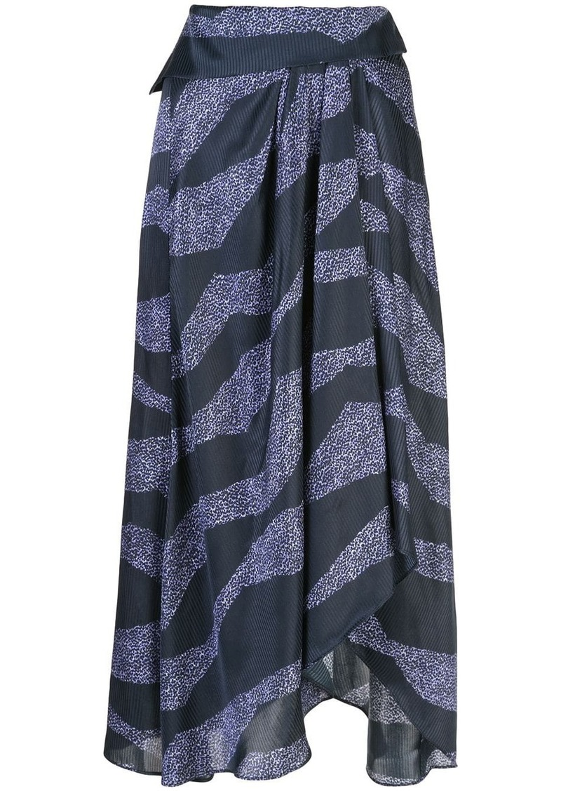 Isabel Marant printed asymmetric skirt