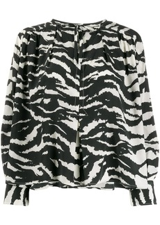 Isabel Marant zebra-printed tunic top
