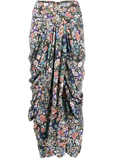 Isabel Marant printed wrap skirt