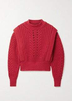 Isabel Marant Prune Ribbed Pointelle-knit Sweater