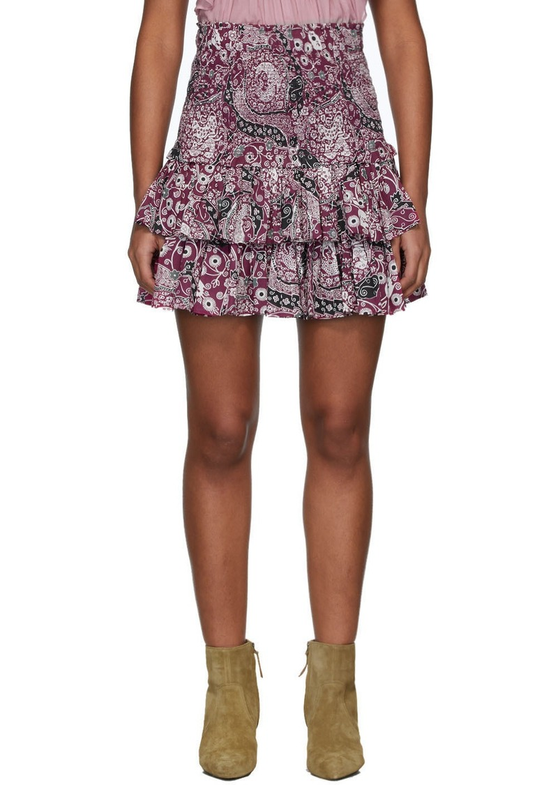 Isabel Marant Purple Naomi Miniskirt