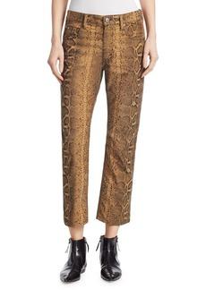 Isabel Marant Python Print Flare Ankle Pants