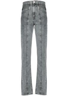 Isabel Marant raised seam tapered jeans