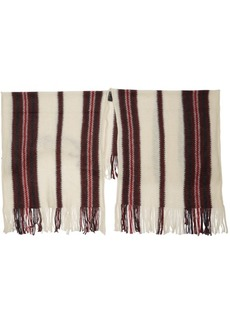 Isabel Marant Red & White Kassy French Touch Shawl