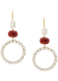 Isabel Marant resin and rhinestone embellished pendant earrings