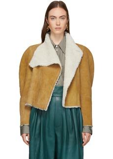 Isabel Marant Reversible Brown Shearling Acacia Wild West Jacket