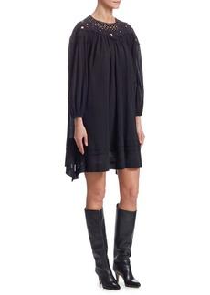 Isabel Marant Rita Cotton Embroidered Shift Dress