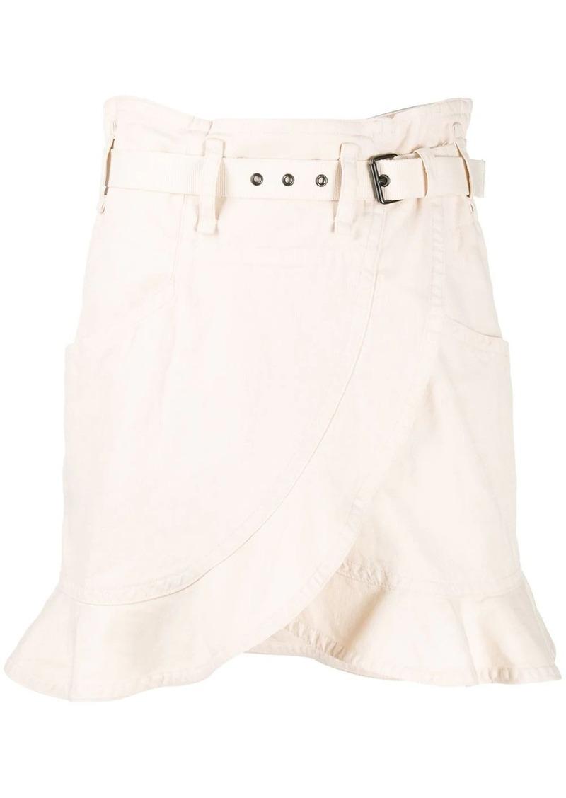 Isabel Marant Roan ruffled denim skirt