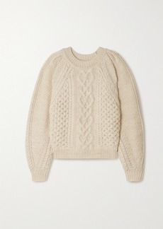 Isabel Marant Romy Cable-knit Wool Sweater