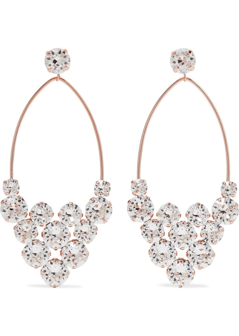 Isabel Marant Rose Gold-tone Crystal Earrings