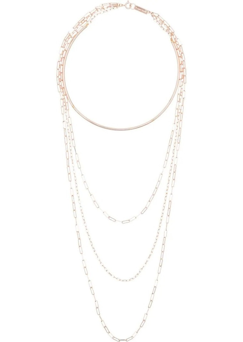 Isabel Marant rose gold tone four loop chain necklace